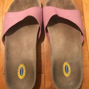 Dr Scholls Pink Slides